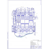 Продольный разрез Двигатель внутреннего сгорания ВАЗ-2110