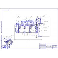 Блок-картер двигателя СМД-60, 62, 64